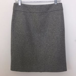 J. Crew wool pencil skirt gray lined size 4 womens